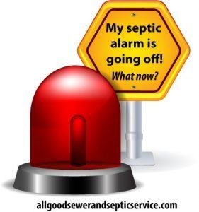 my septic system alarm going off