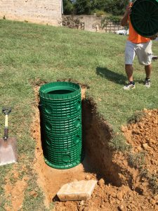 Allgood System riser installed on deep septic tank