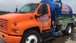 Allgood's septic tank pumping truck