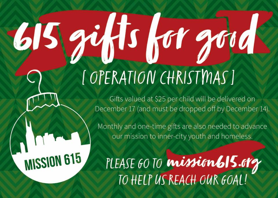 Operation Christmas at Mission 615 promo