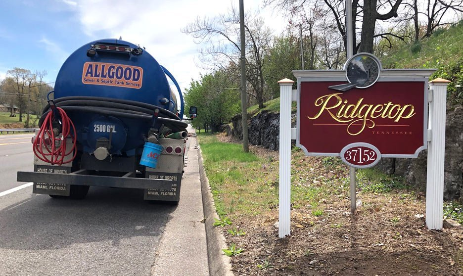 Allgood Sewer and Septic Tank Service does home inspections, pumps septic tanks and does field line repairs in Ridgetop, Tennessee