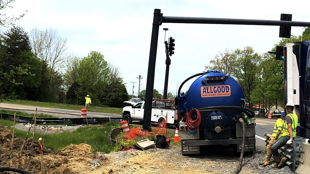 Allgood does commercial septic work