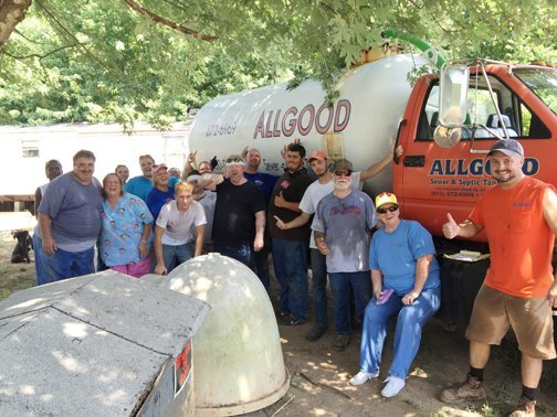 HIS Mission Team with Allgood Sewer and Septic Tank Service