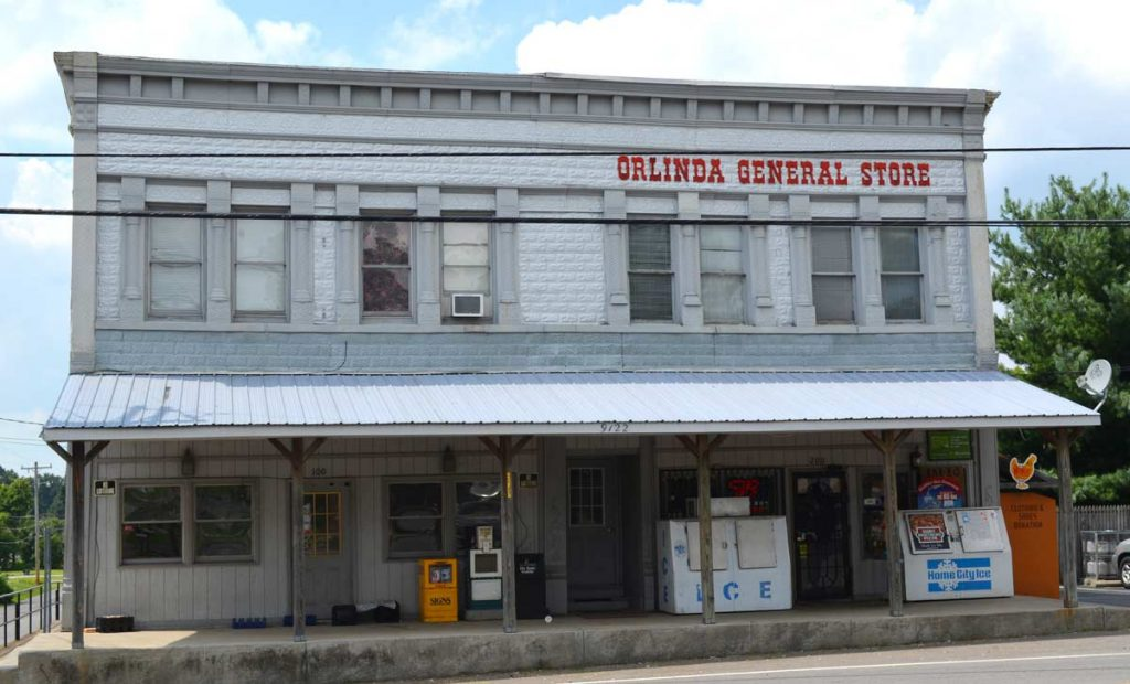 Old general store in Orlinda, TN is a landmark to Allgood technicians.