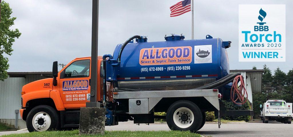 Allgood septic truck in Hendersonville TN