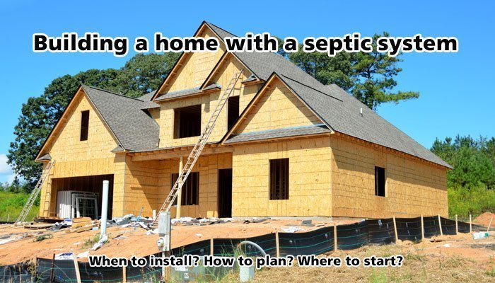 New construction and septic system installation