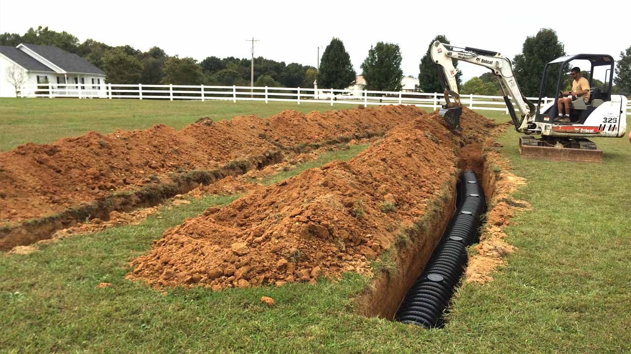 field line repair and field line installation services from allgood
